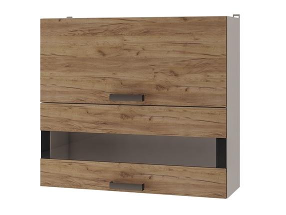 Шкаф настенный с дверями горизонтальными 8В3 Крафт